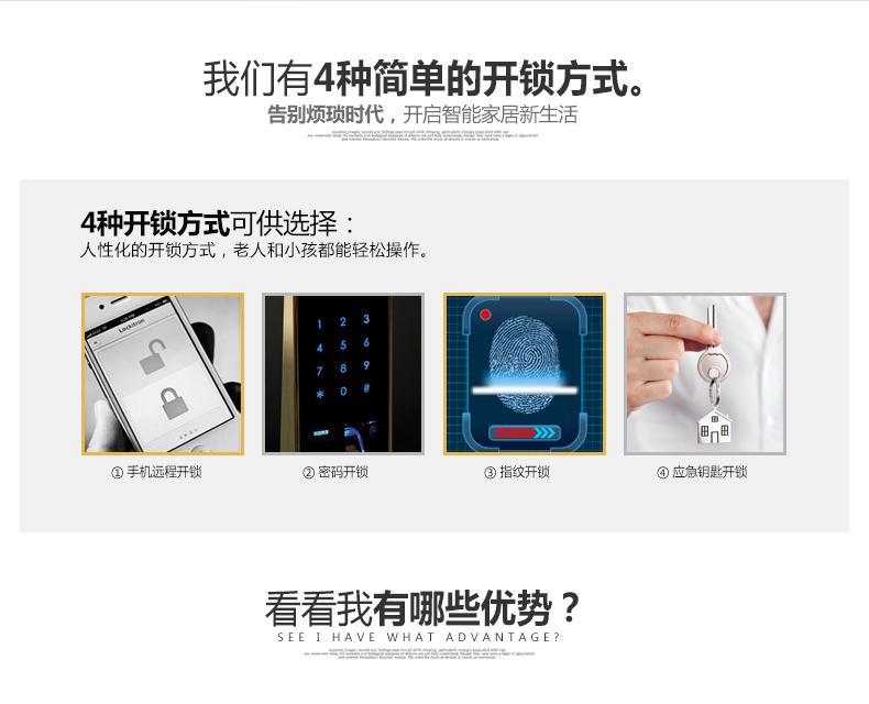 美好家智能远程遥控门锁 智能指纹门锁-8