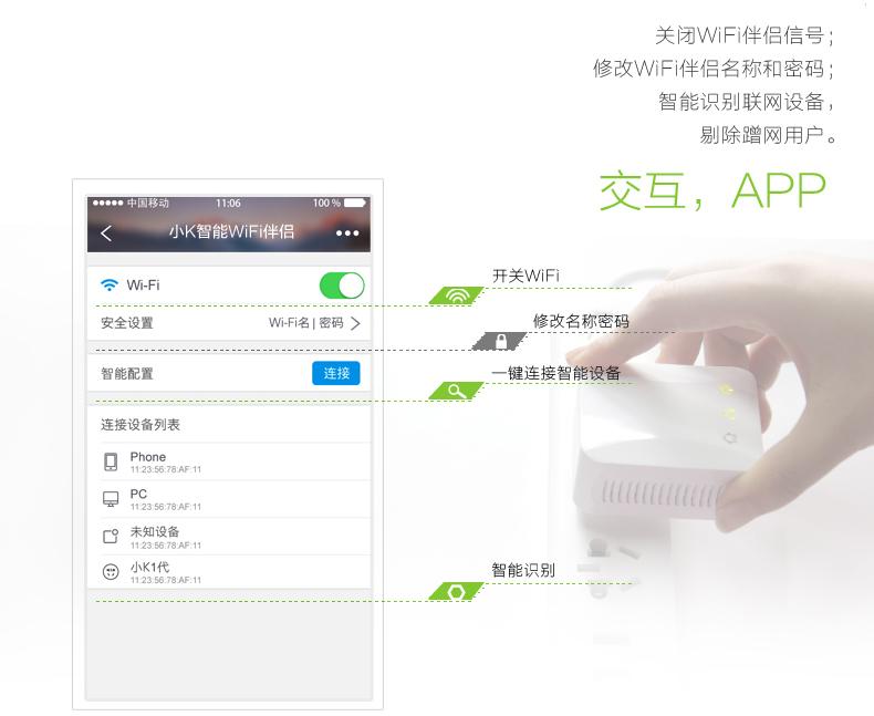 控客智能家居产品 智能系统wifi遥控智能电力猫家用安防无线路由网络交换器