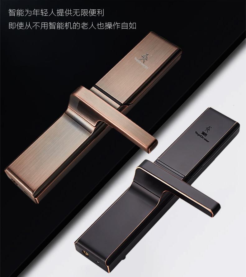 顶吉智能锁产品 T200H-3有孔系列图片