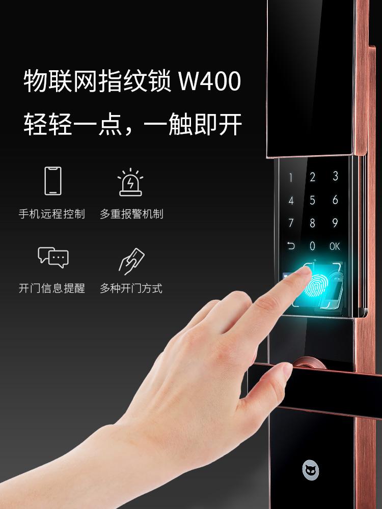 斑点猫智能锁产品 密码锁指纹电子锁W400+S200图片
