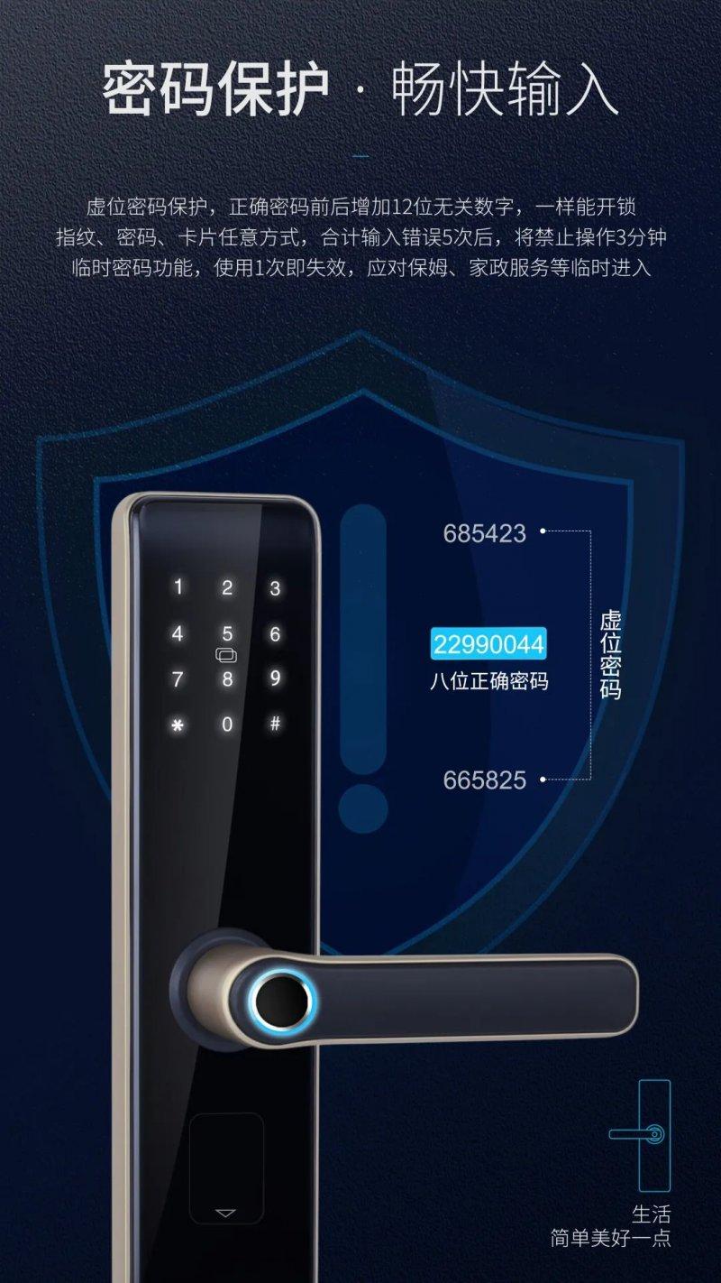 樱花智能锁图片DZ-7001 室内门智能锁效果图_6